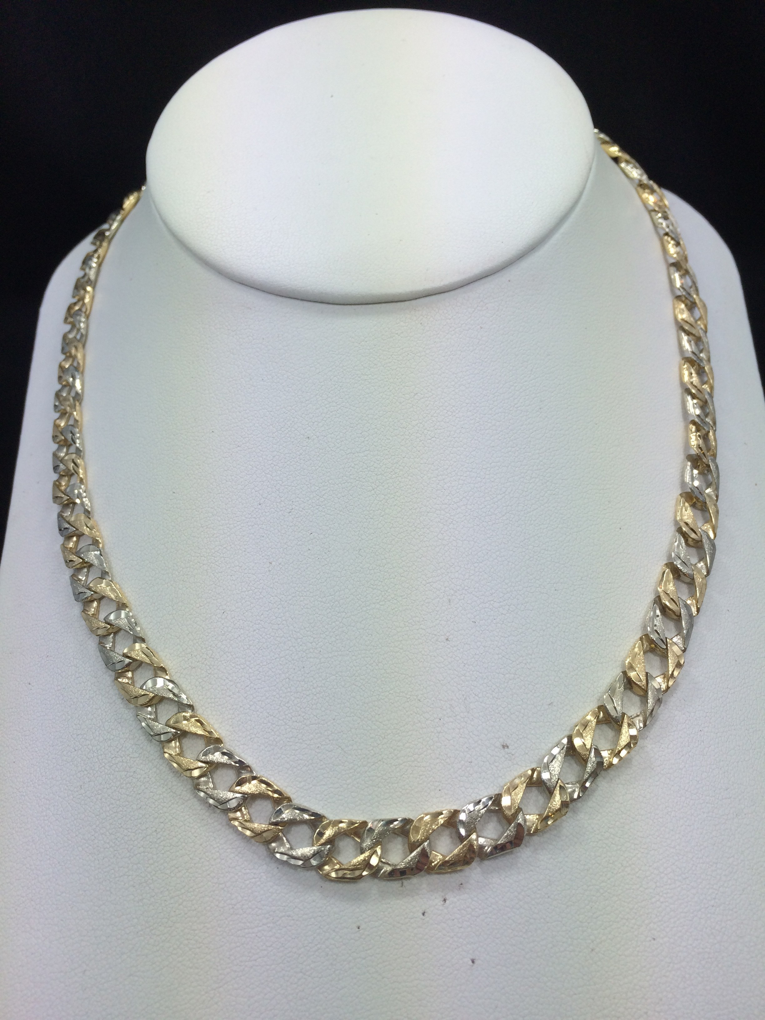 Two tone 10k 53g gold chain